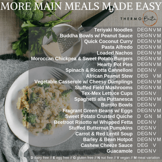 more main meals made easy thermomix vegetarian meals index page